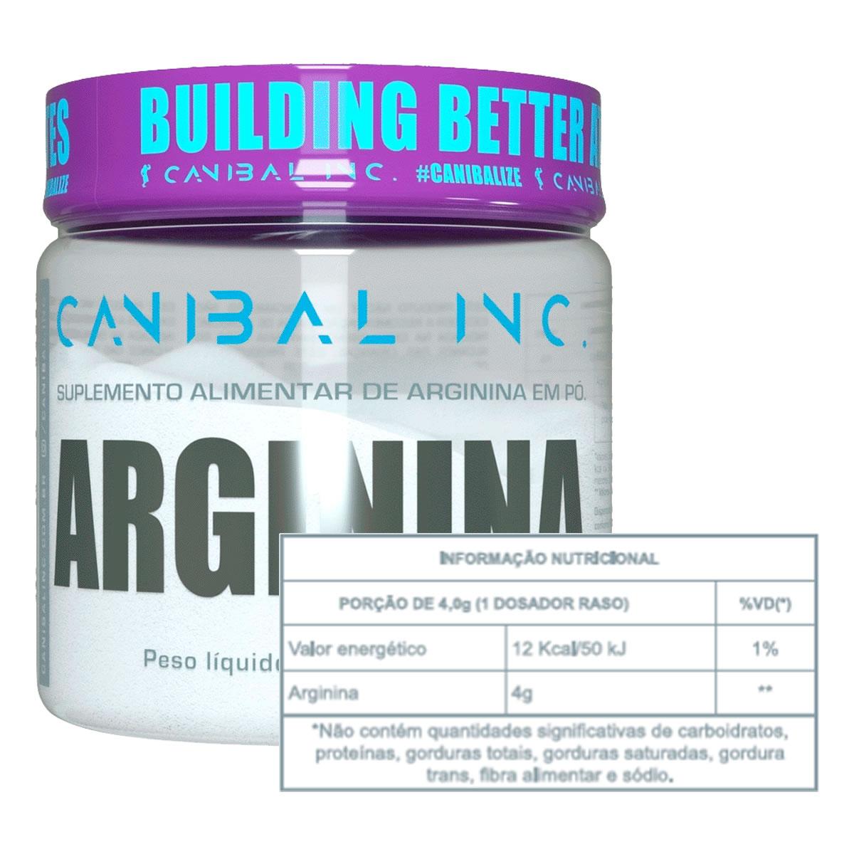 Arginina 200g - CANIBAL INC
