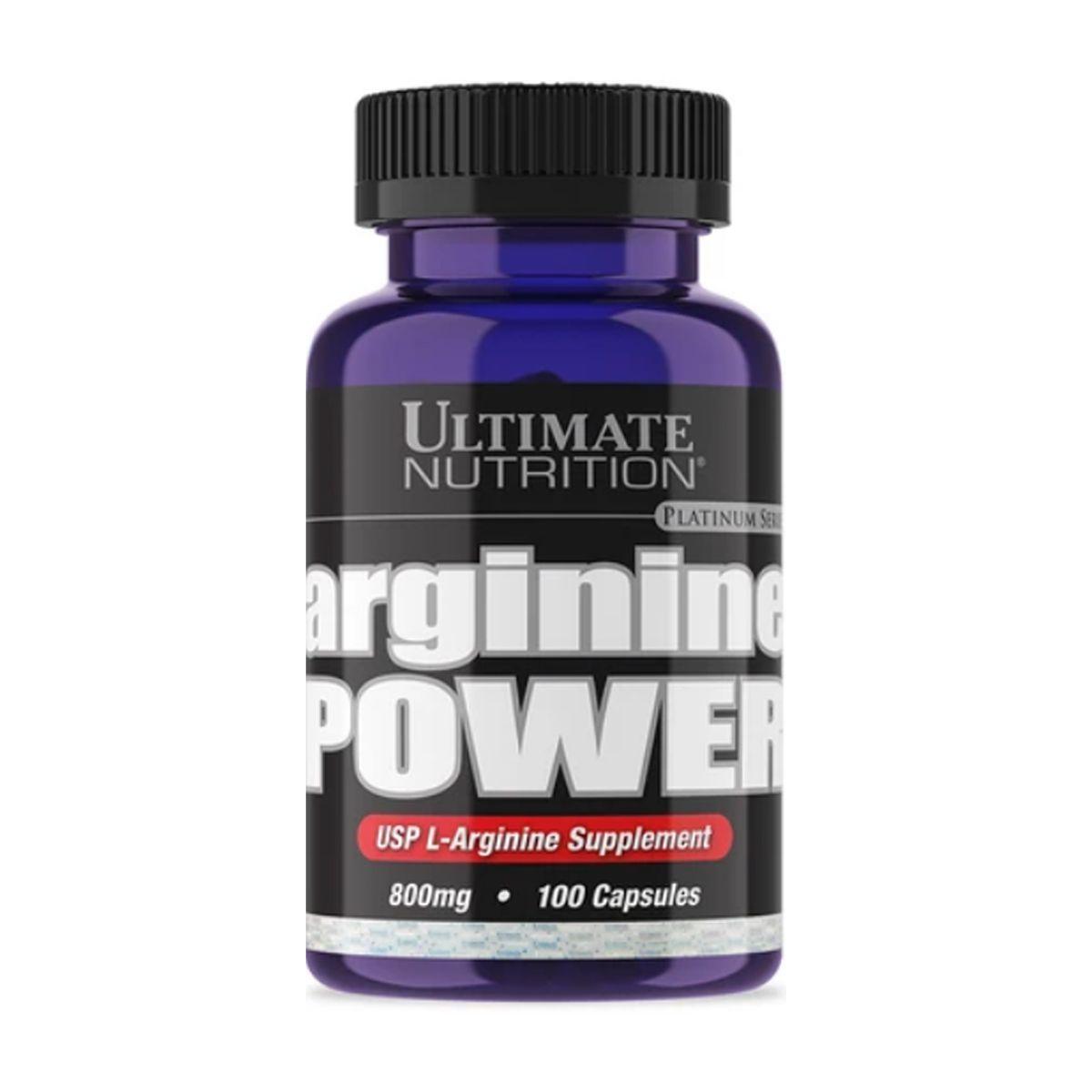 Arginina Powder 800mg 100 cápsulas - Ultimate Nutrition