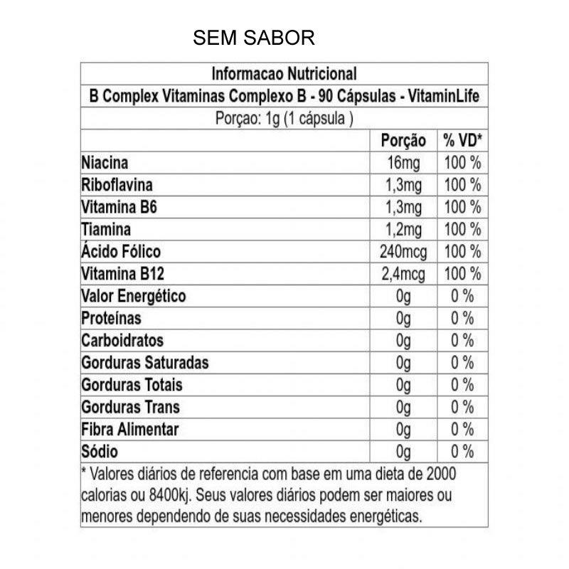 B-Complex 90 cápsulas - Vitamin Life