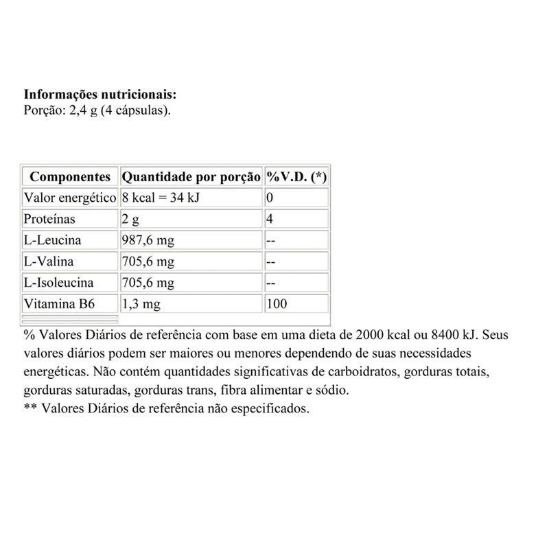BCAA 2400 100 Cápsulas - Body Action