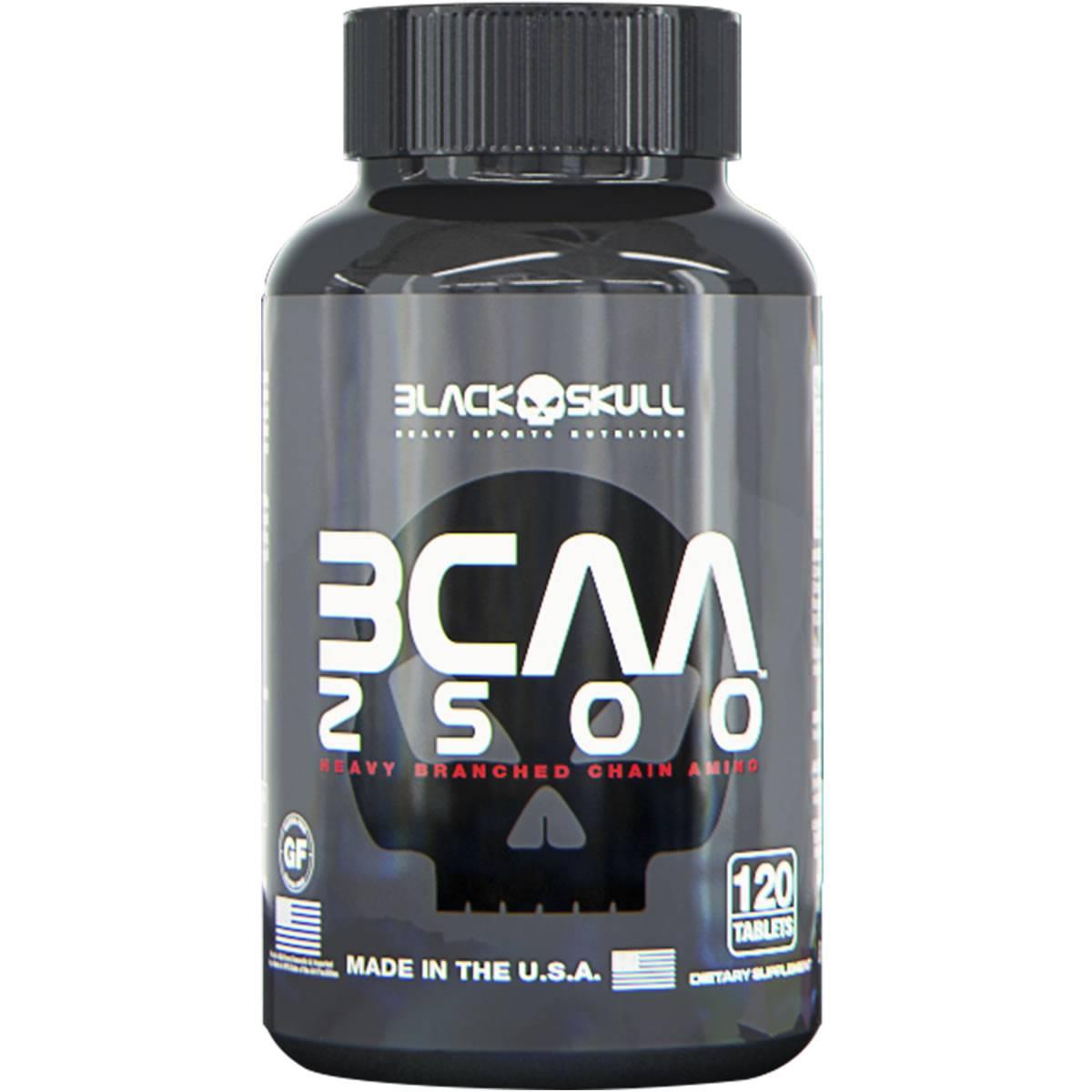 BCAA 2500 120 Cápsulas - Black Skull