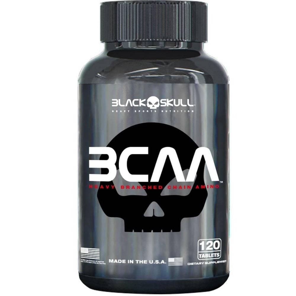 BCAA 2:1:1 120 Cápsulas - Black Skull