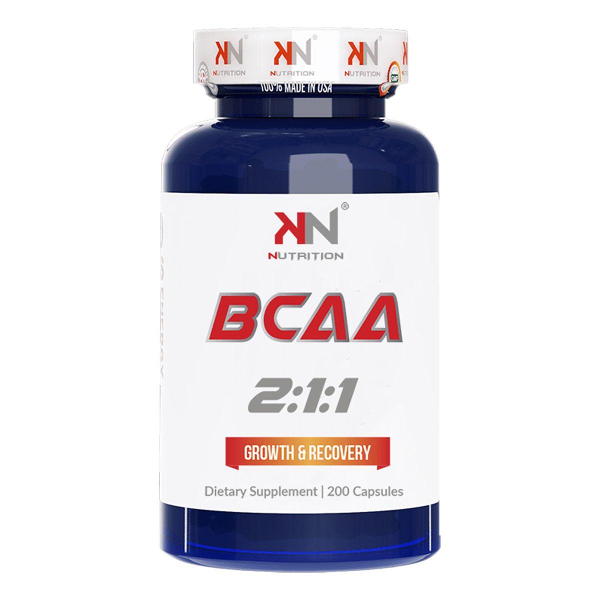 BCAA 2:1:1 - 200 Cápsulas - KN Nutrition