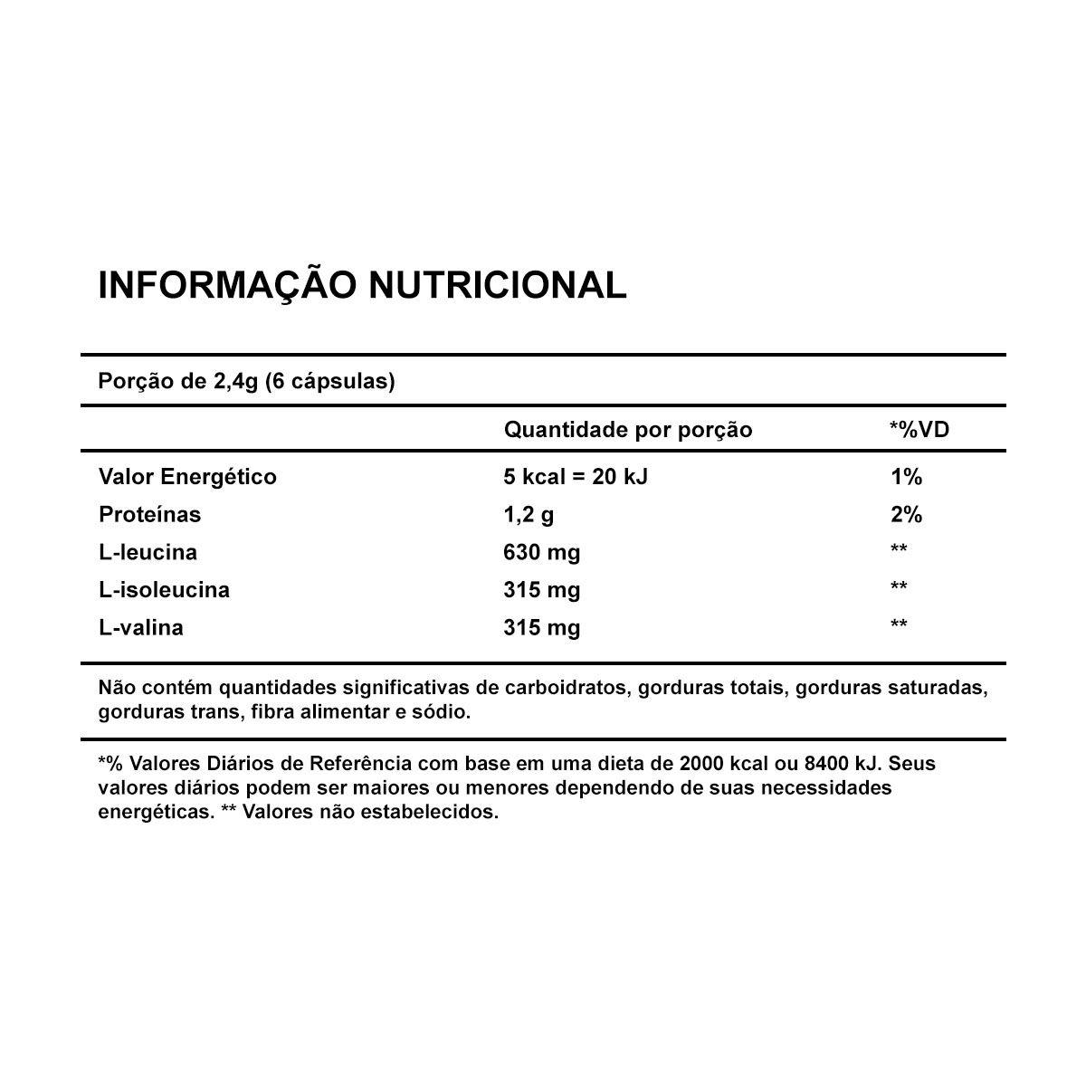 Hi-BCAA 2:1:1 60 caps - Leader Nutrition