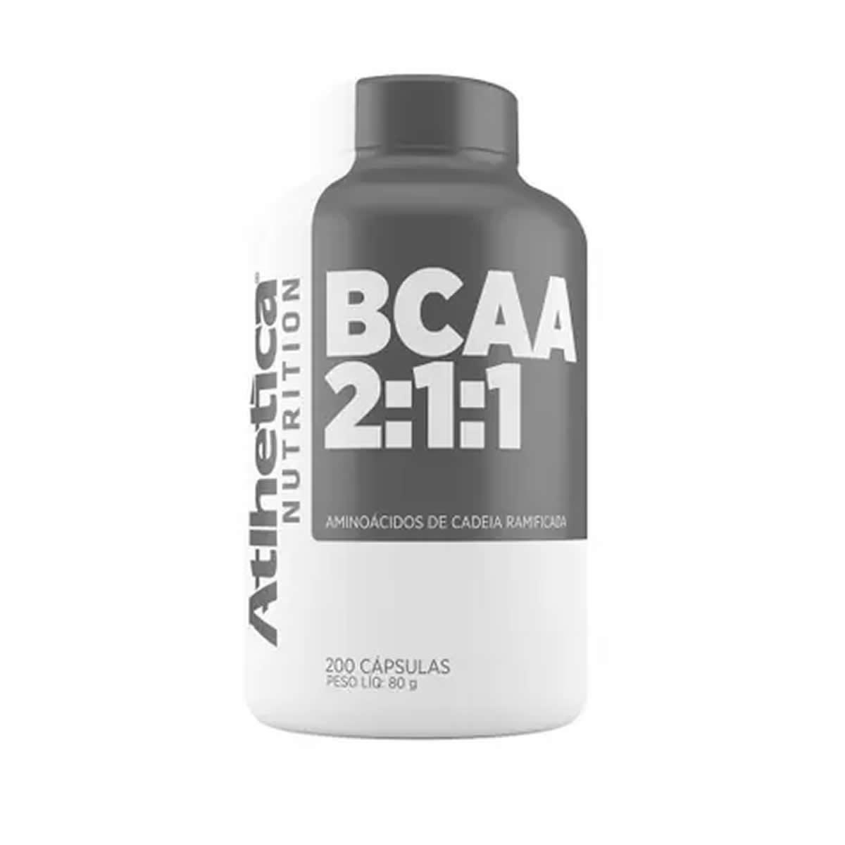 BCAA 2:1:1 Pro Series 200 Cápsulas - Atlhetica Nutrition