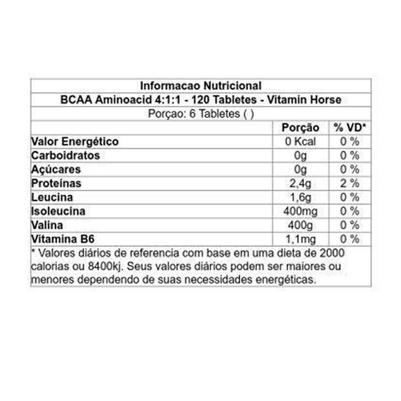 BCAA 4:1:1 120 Tabletes - Vitamin Horse