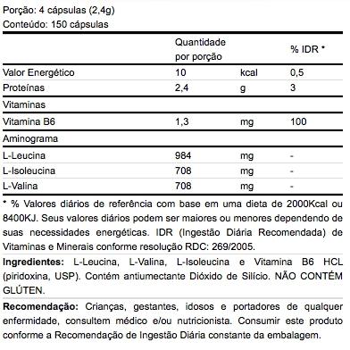 BCAA B6 150 Cápsulas - Atlhetica