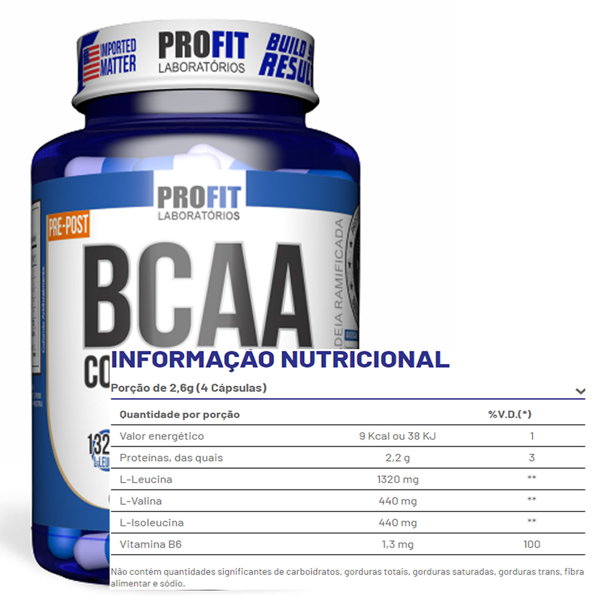 BCAA Complex 3:1:1 120 Cáps - Profit