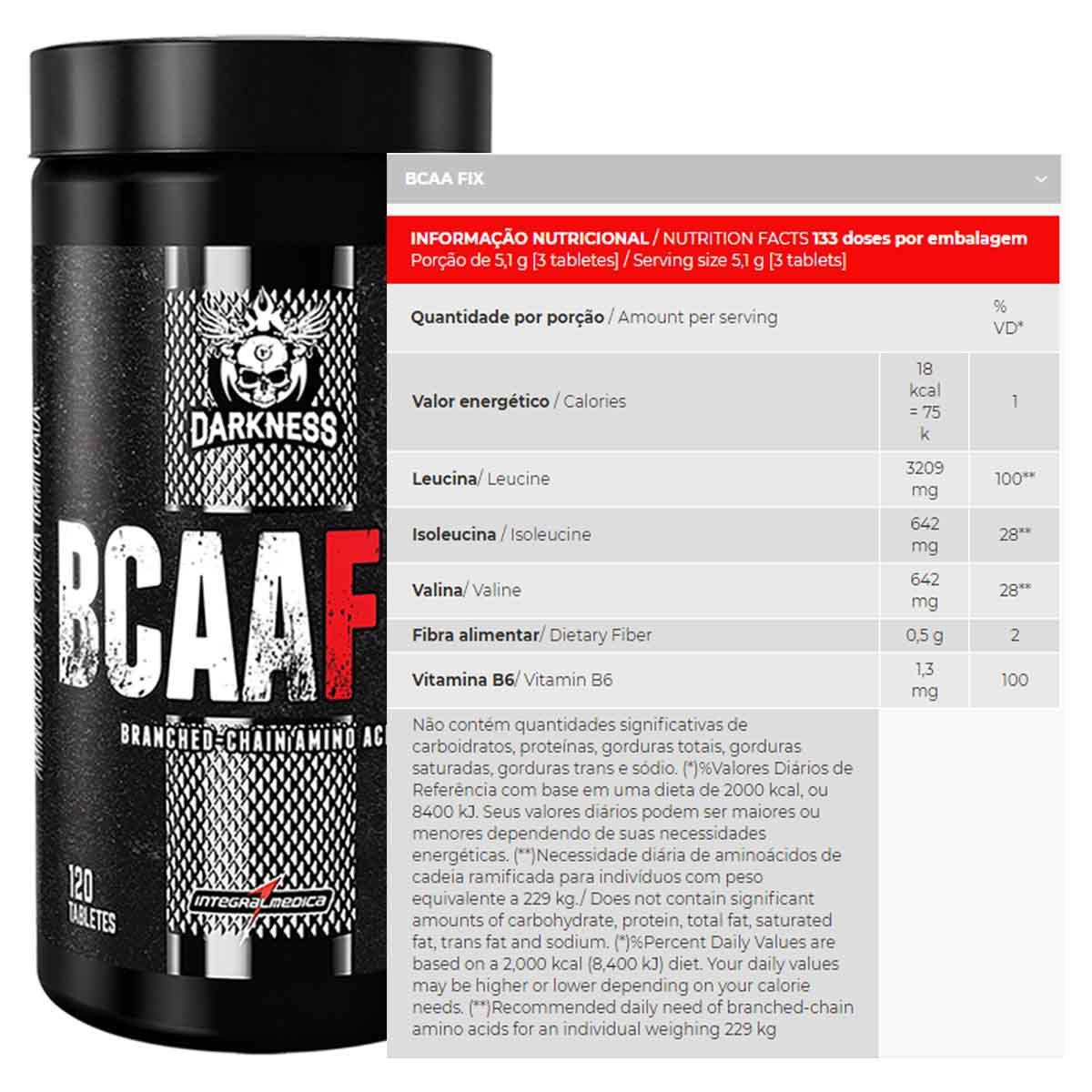 BCAA Fix 120 tablets - Integral Médica