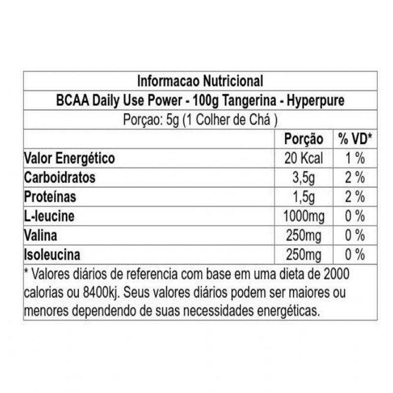BCAA Powder 100g - Hyperpure