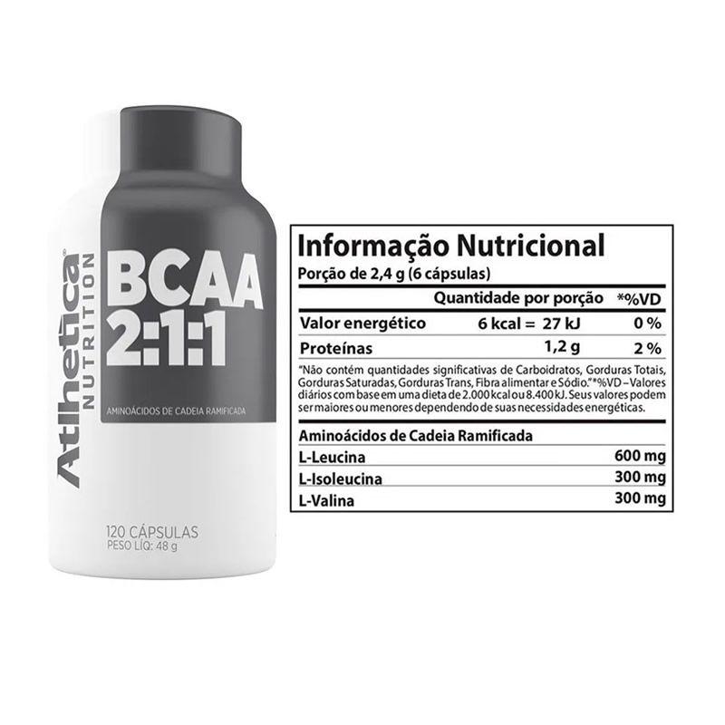 BCAA Pro Series 120 cápsulas - Atlhetica Nutrition