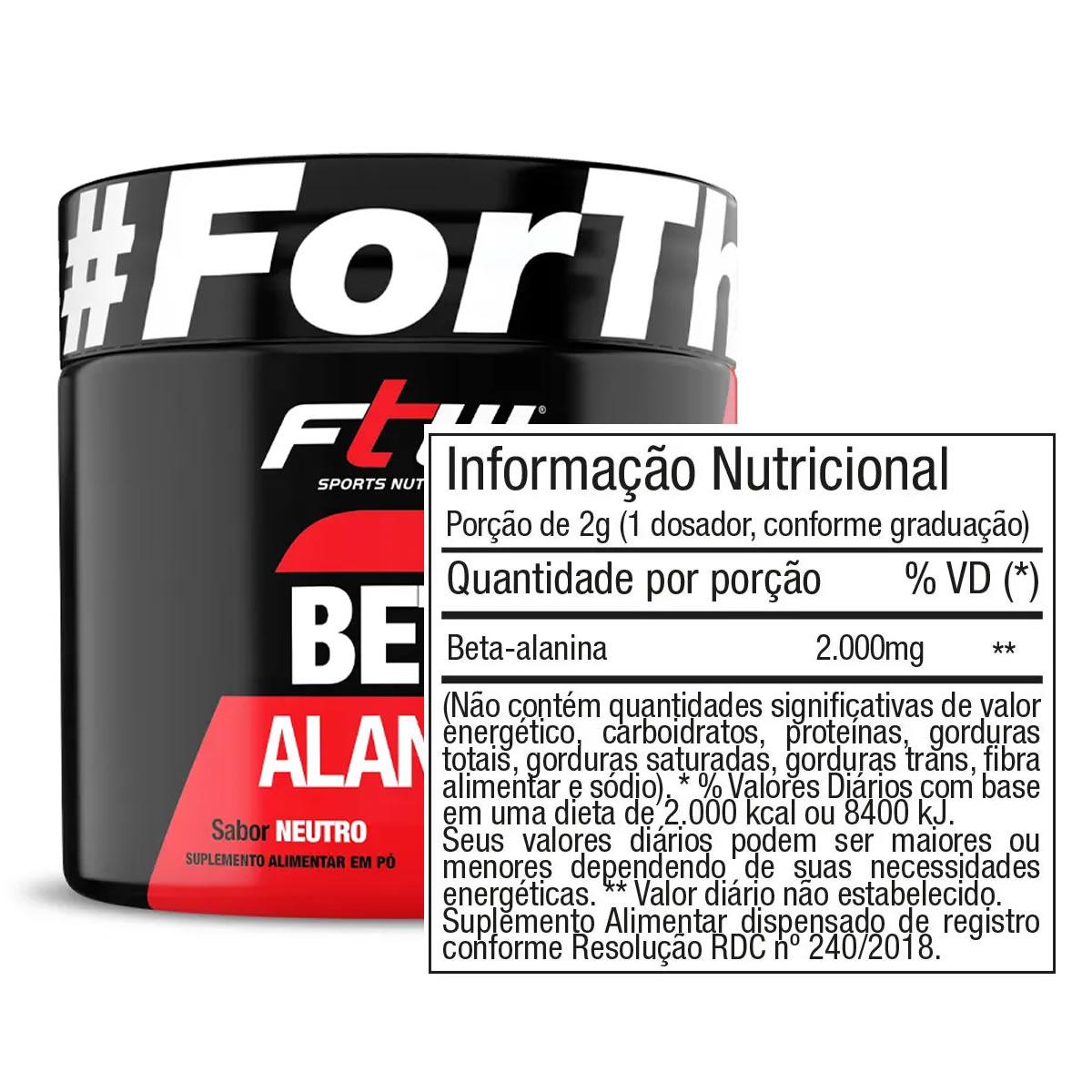 Beta Alanina 150g - FTW