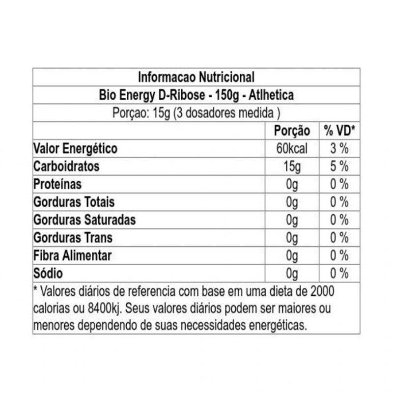 Bioenergy D-Ribose 150g - Atlhetica Nutrition