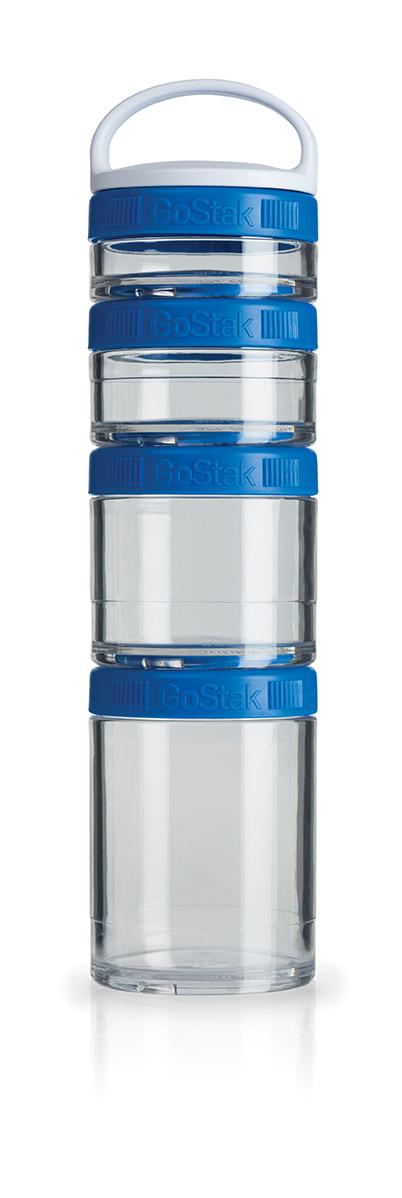Blender Bottle GoStak - 4 Packs - Azul