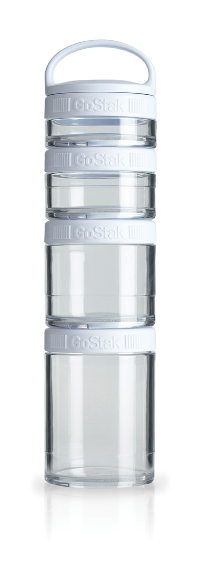Blender Bottle GoStak - 4 Packs - Branco