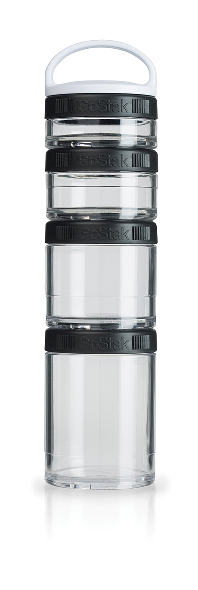 Blender Bottle GoStak - 4 Packs - Preto