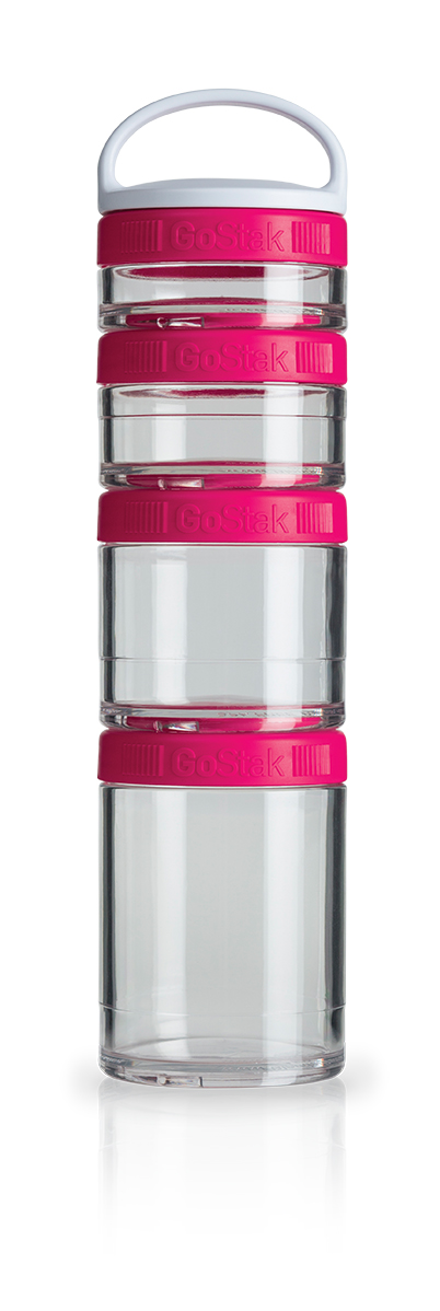 Blender Bottle GoStak - 4 Packs - Rosa
