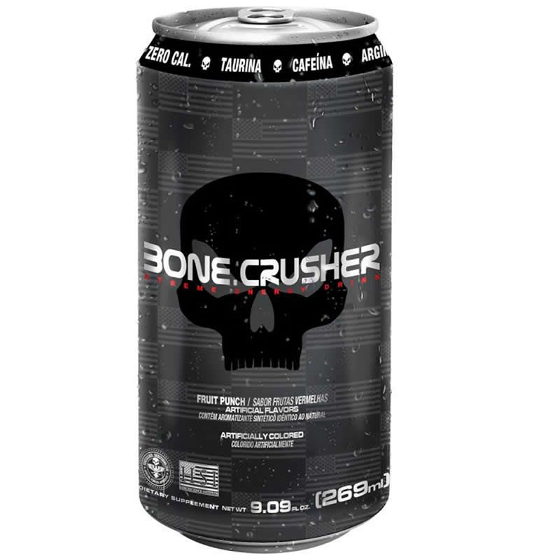 Energetico Pré Treino Bone Crusher Lata 269ml - Black Skull