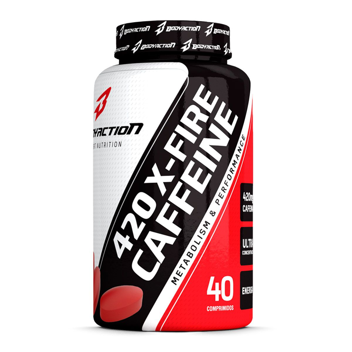 Caffeine X-Fire 40 Tablets - Body Action