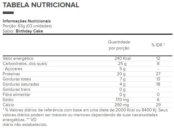 Cake Bites 12 Unidades - Optimum Nutrition
