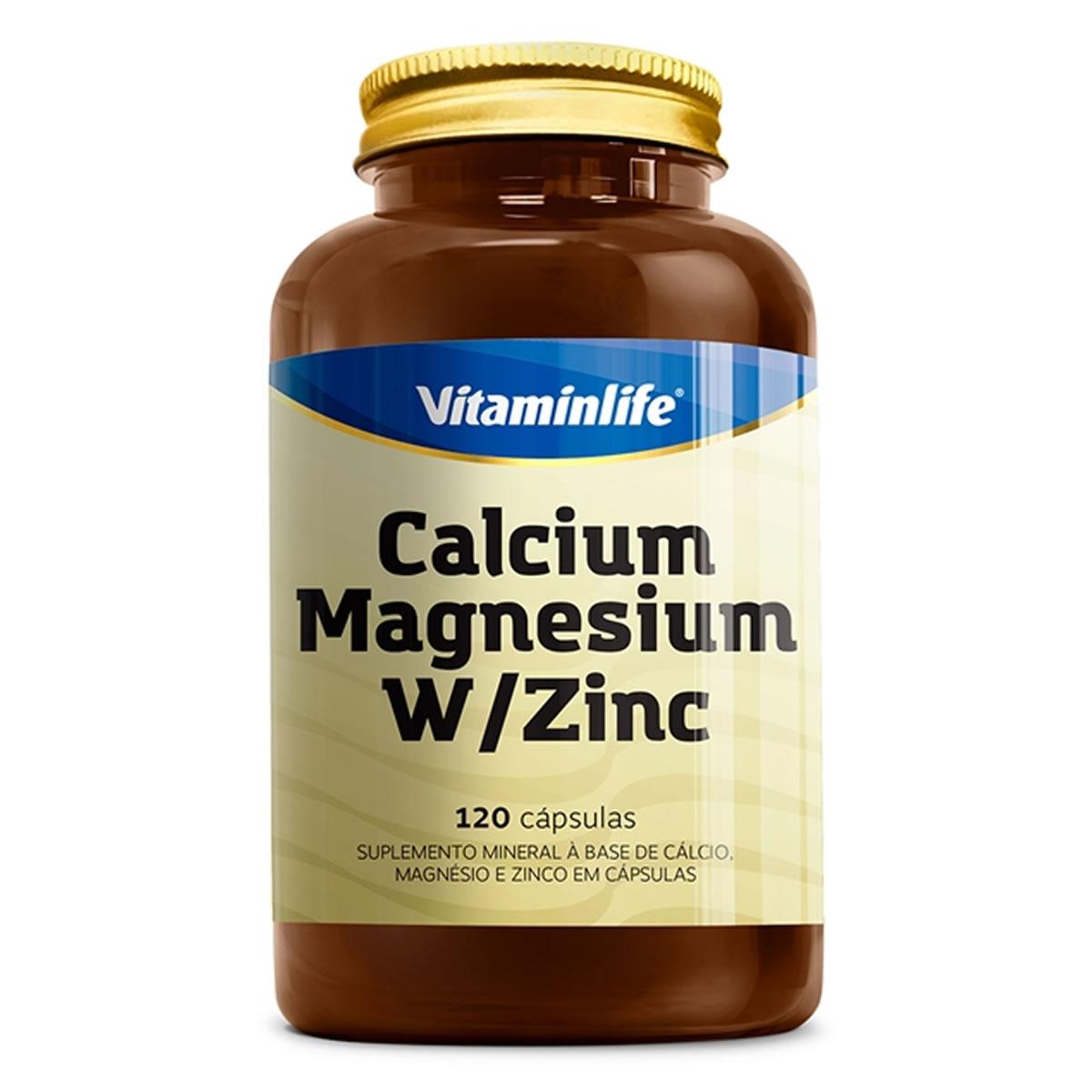 Calcium Magnesium W/Zinc 120 cápsulas - Vitamin Life