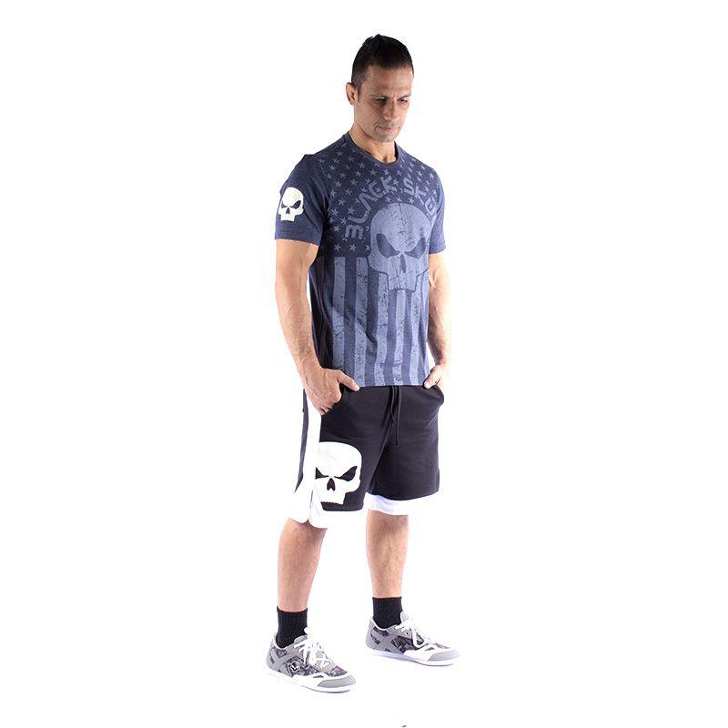 Camiseta BSK 0121 - Marinho/Mescla - Black Skull