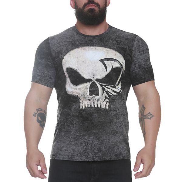 Camiseta Caveira Lee Priest Preto - Black Skull