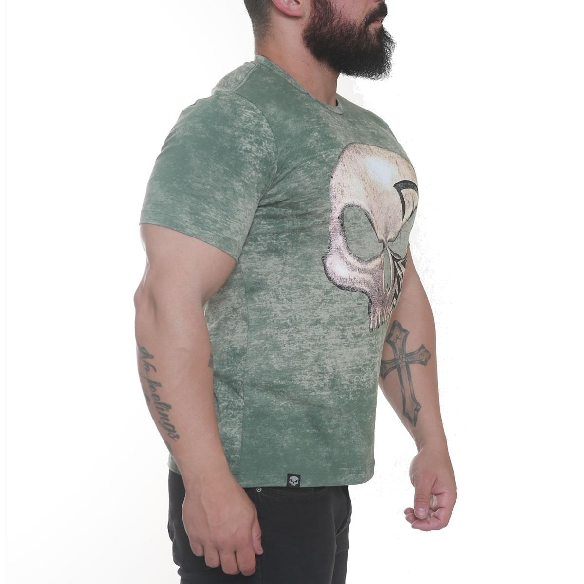 Camiseta Caveira Lee Priest Verde - Black Skull Clothing