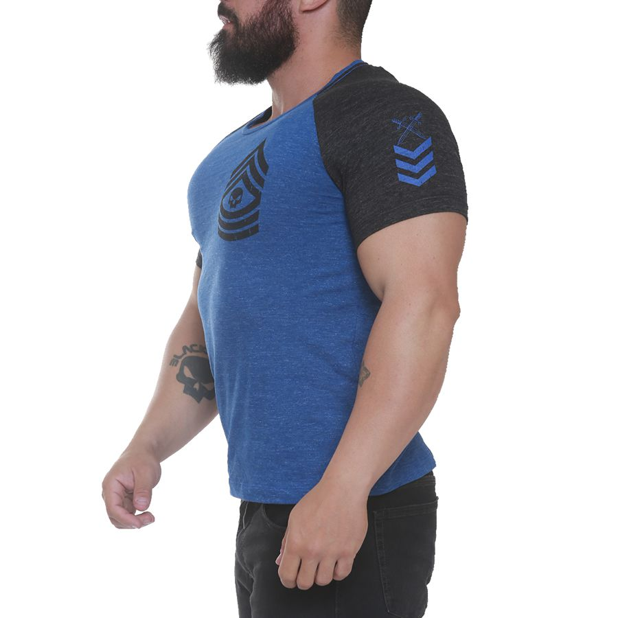Camiseta Comando Azul - Black Skull