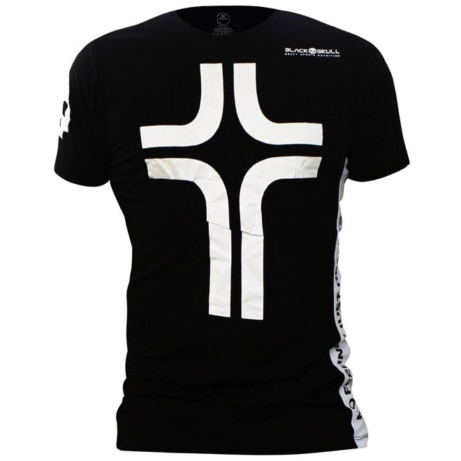 Camiseta Cruz Manga Curta Masculina - Preta - Black Skull