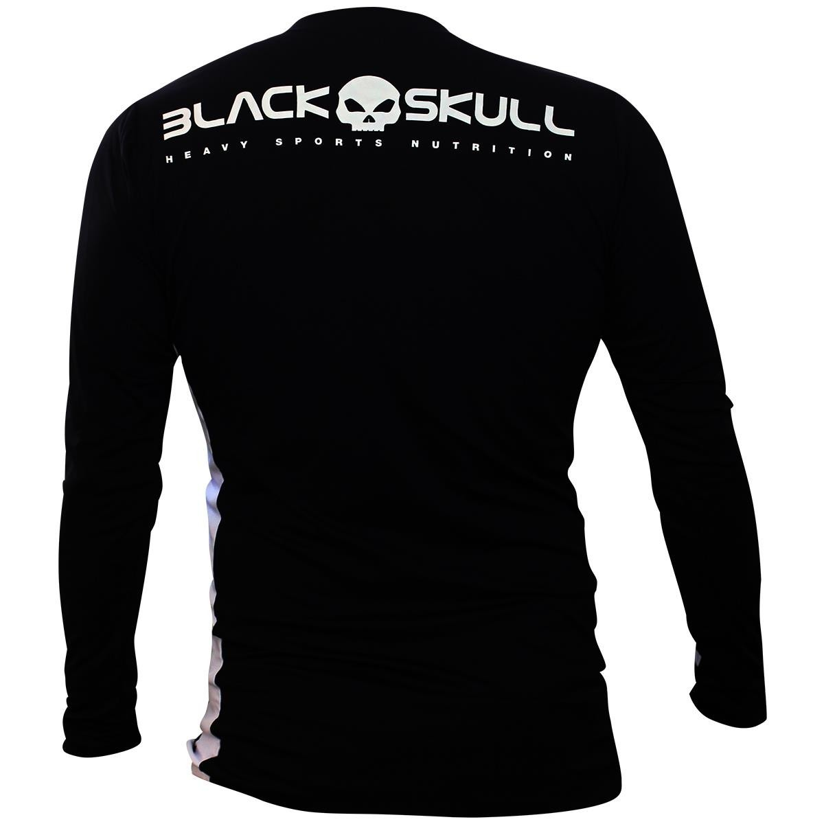 Camiseta Cruz Manga Longa Masculina - Preta - Black Skull