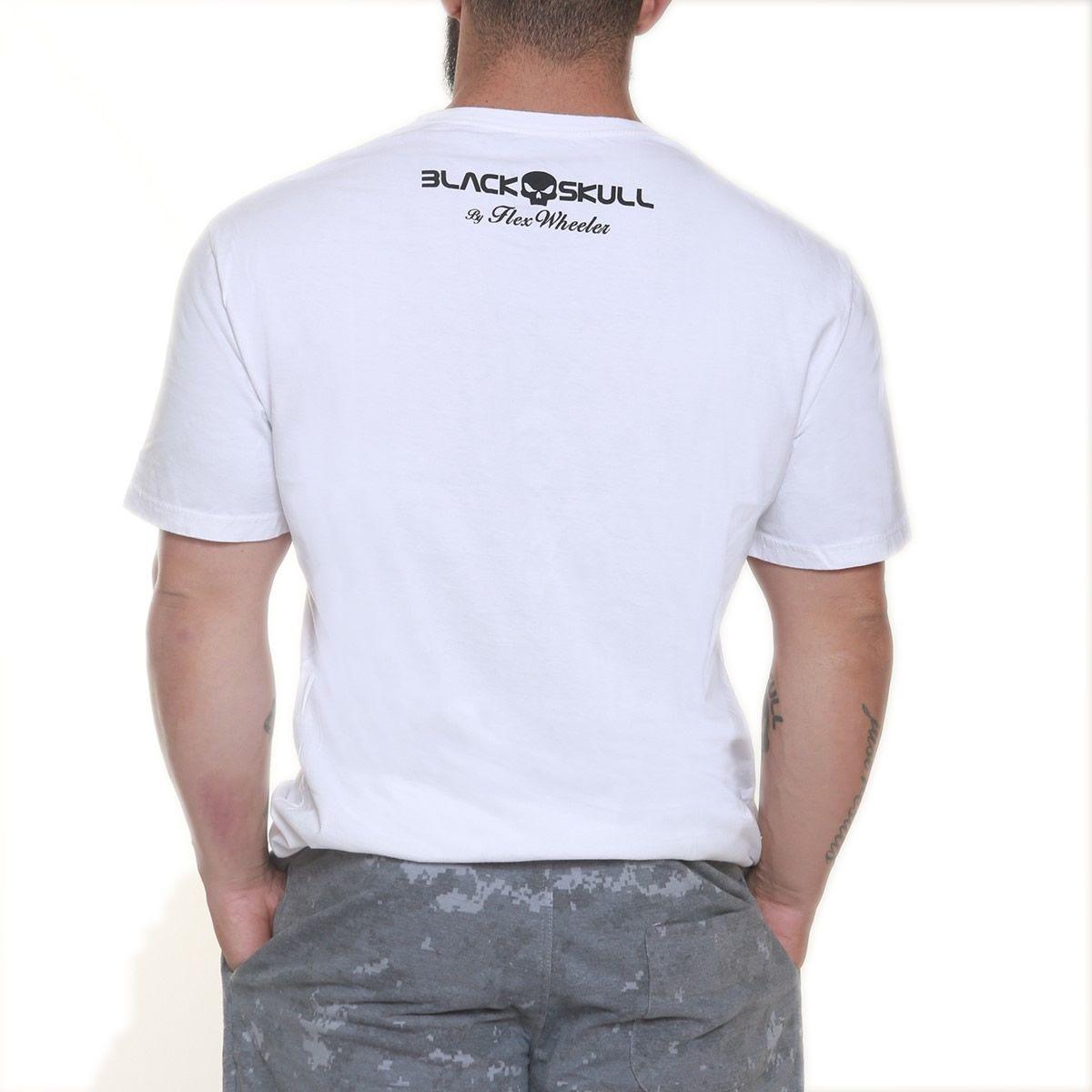 Camiseta Flex Wheeler Branco - Black Skull