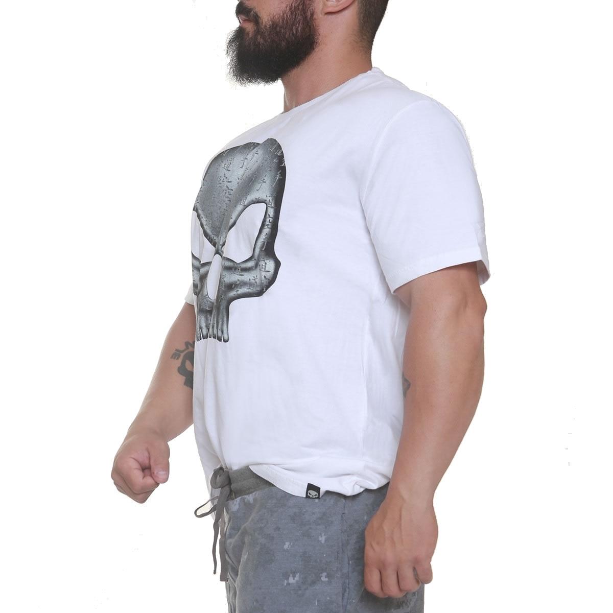 Camiseta Flex Wheller Branca - Black Skull Clothing