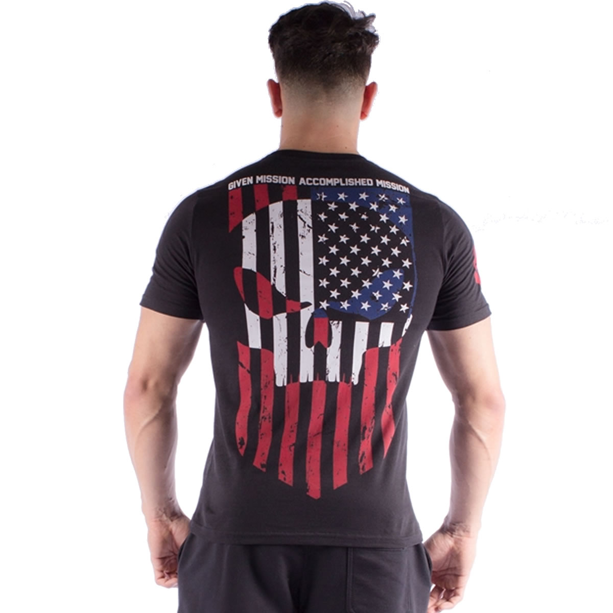 Camiseta Given Mission Accomplished Preta - Black Skull Clothing
