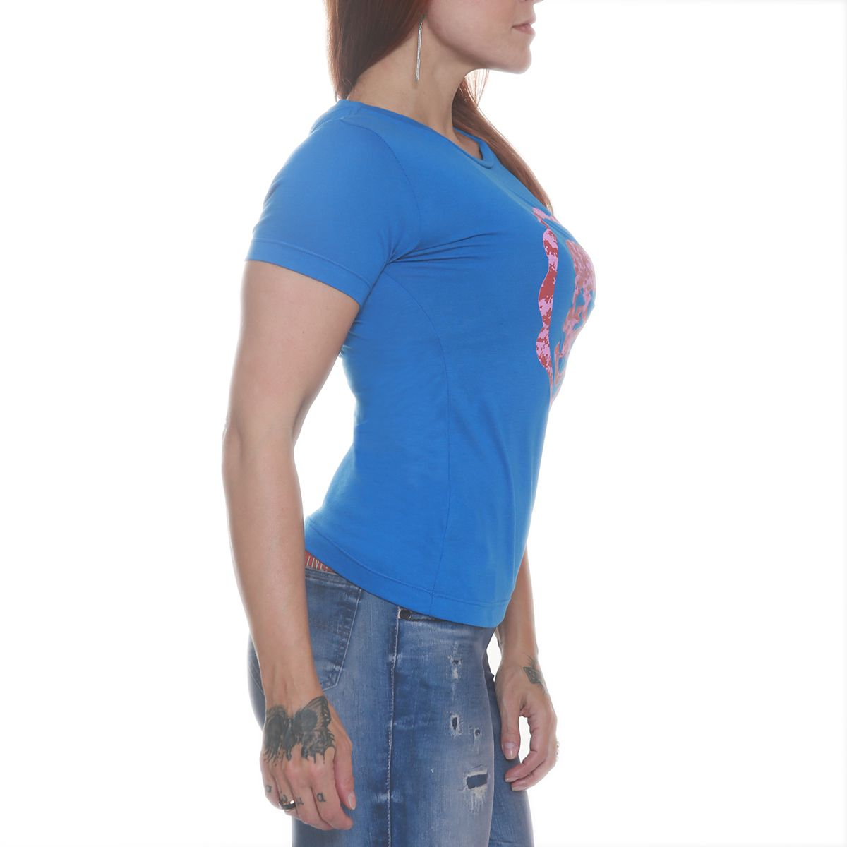 Camiseta Heart Bkf0103 Azul - Black Skull