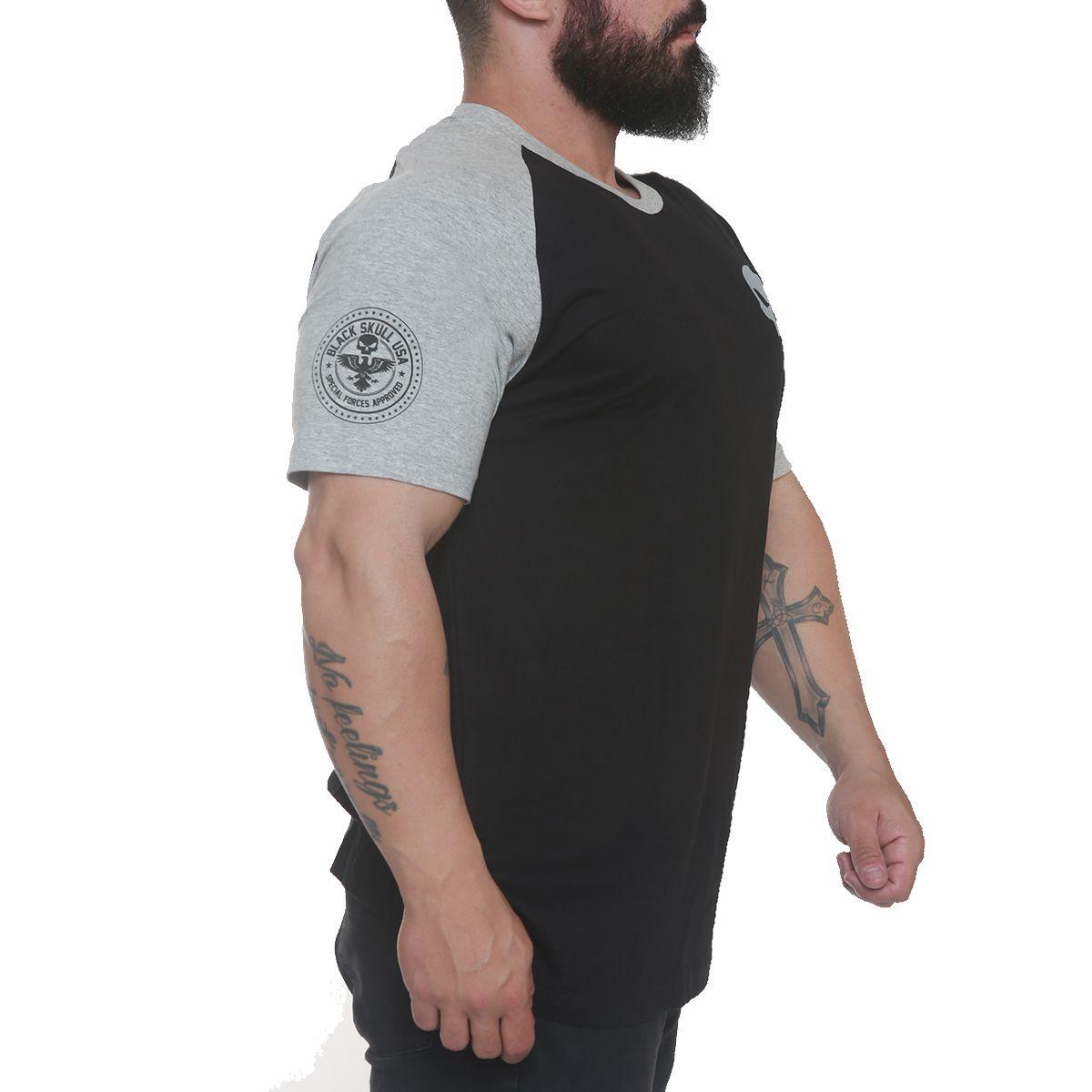 Camiseta Skull Army Preto - Black Skull