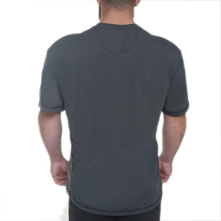 Camiseta Skull Cracked Cinza Escuro - Black Skull