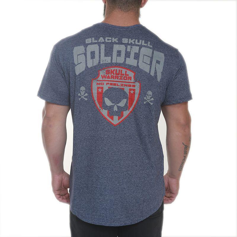 Camiseta Skull Soldier Azul - Black Skull