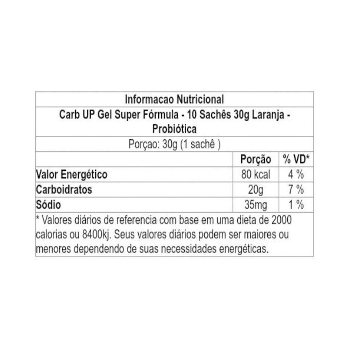 Carb-Up 10 sachês 30g - Probiótica