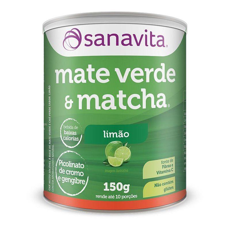 Chá Mate Verde & Matchá - 150g - Sanavita