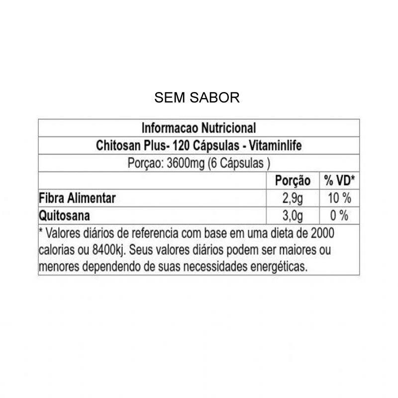 Chitosan Plus 120 cápsulas - Vitamin Life
