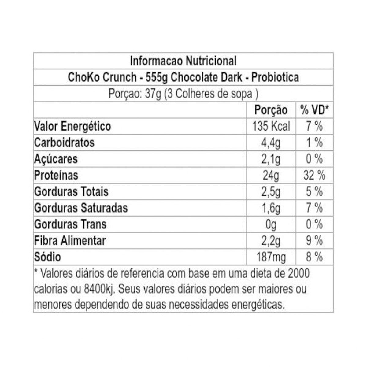 Choko Crunch Whey Protein Shake 555g - Probiótica