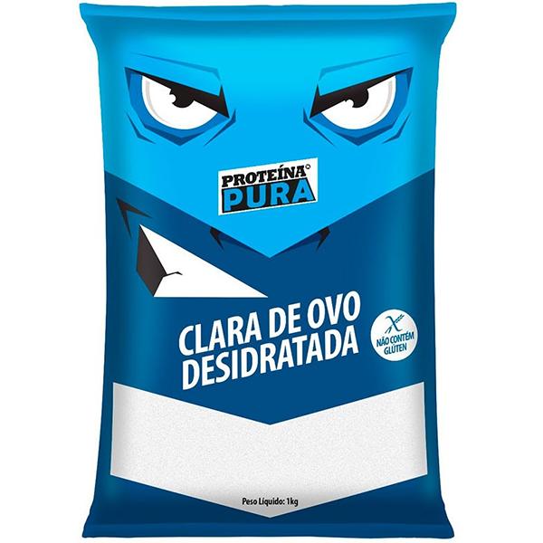 Clara de Ovo Desidratada 1Kg - Proteína Pura - Netto Alimentos