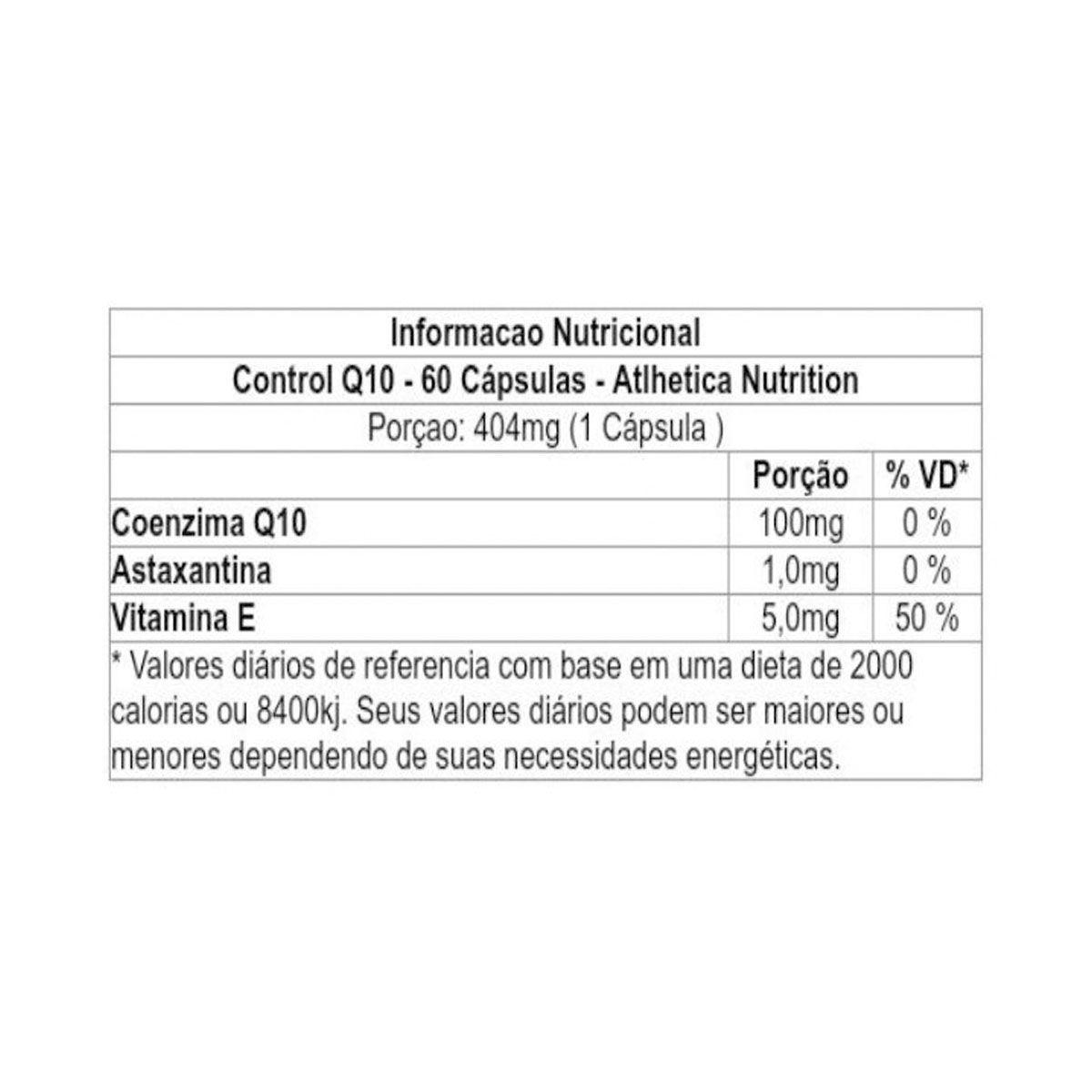 Cleanlab Control Q10 60 Cápsulas - Atlhetica Nutrition
