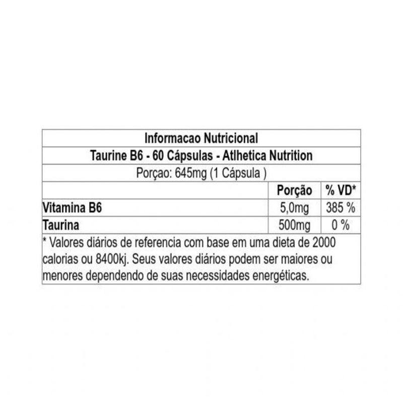 Cleanlab Taurine B6 60 cáps - Atlhetica Nutrition