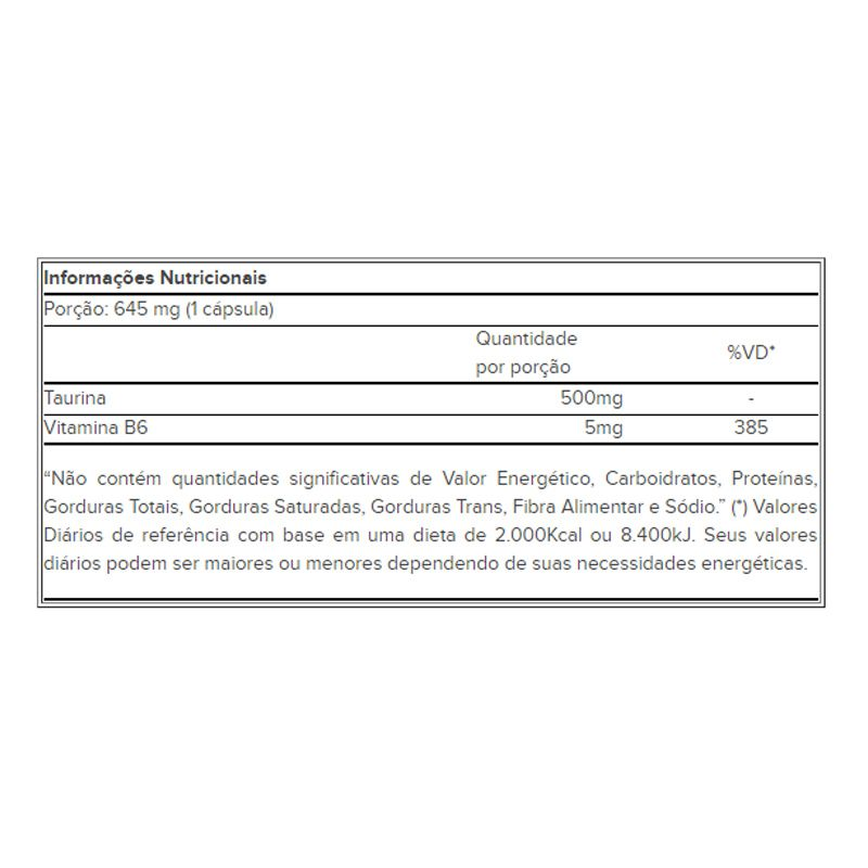 Cleanlab Taurine B6 - 60 Cápsulas - Atlhetica