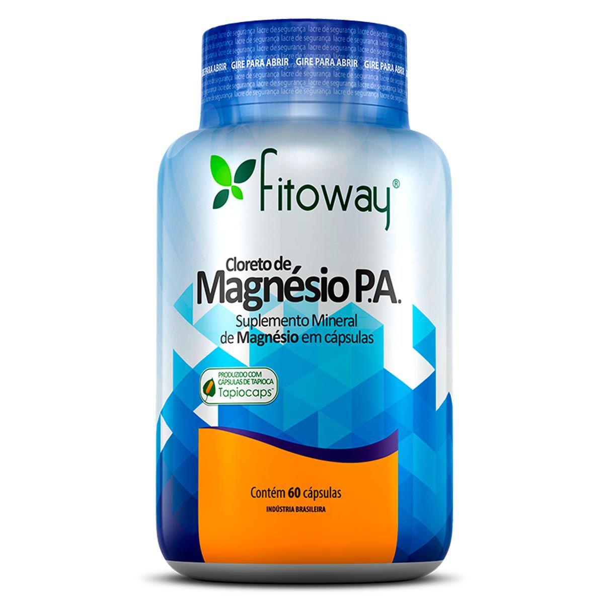Cloreto de Magnésio P.A 60 cápsulas - Fitoway