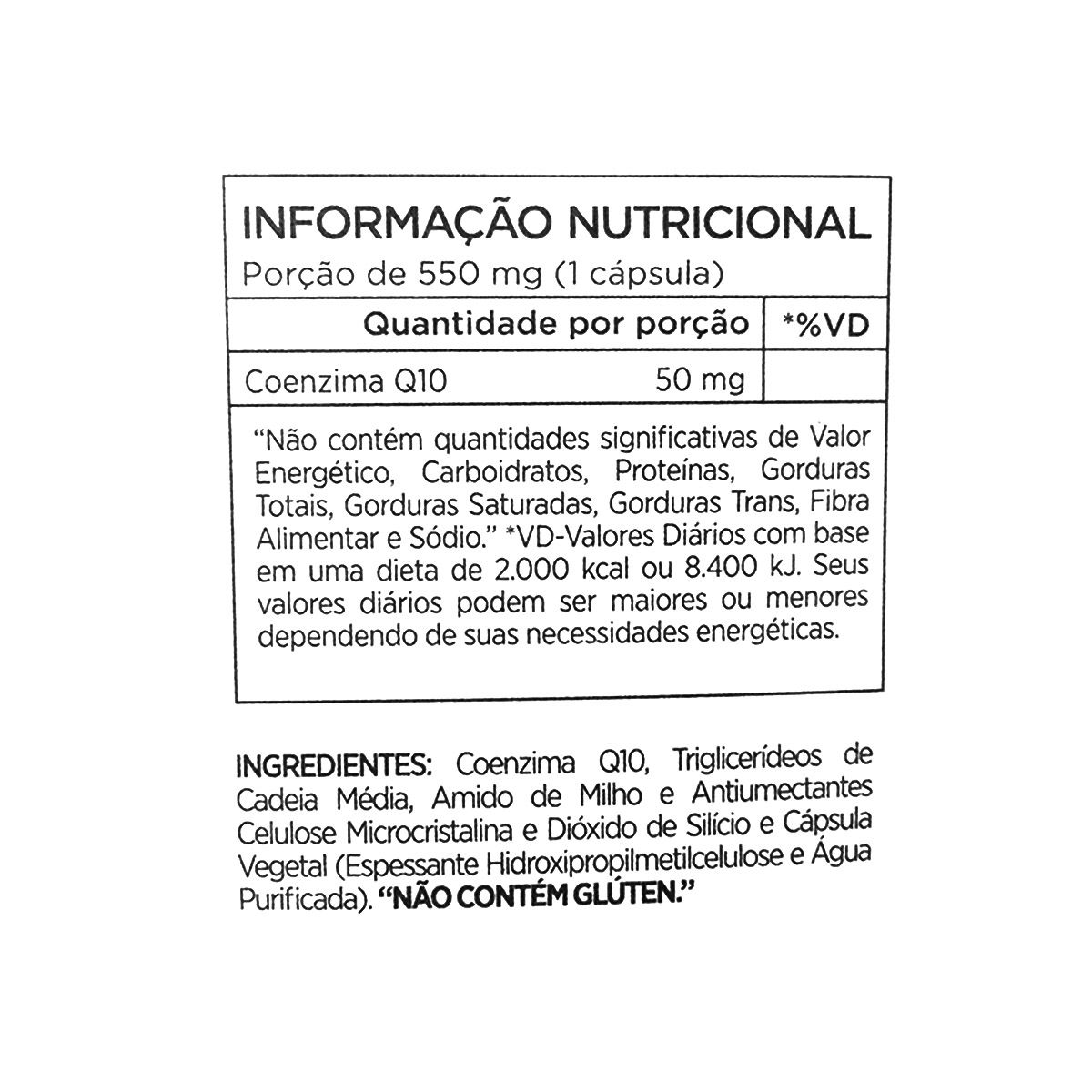 Co Q10 50mg - 60 Cápsulas - Atlhetica Nutrition Cleanlab