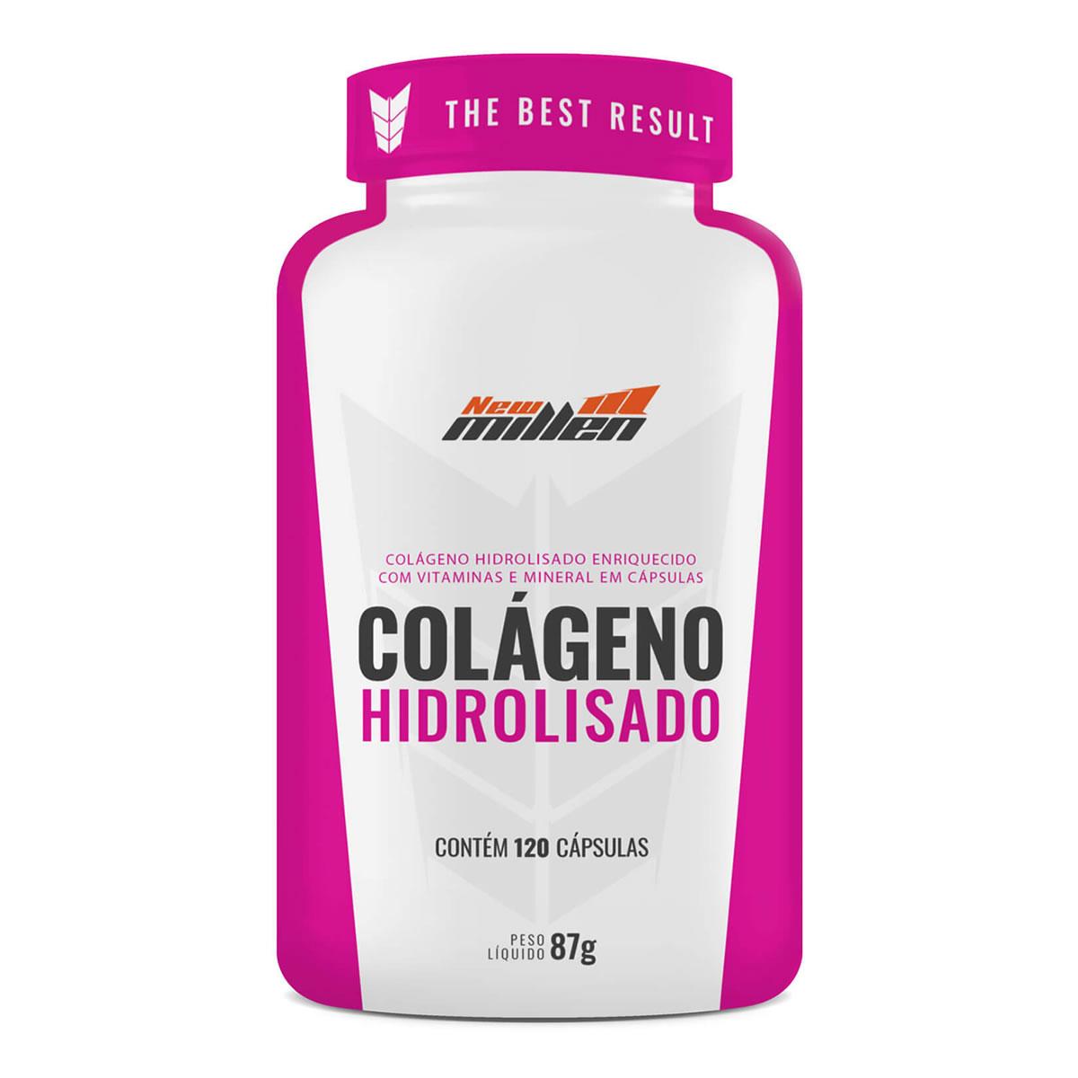 Colágeno Hidrolisado 120 Cápsulas - New Millen