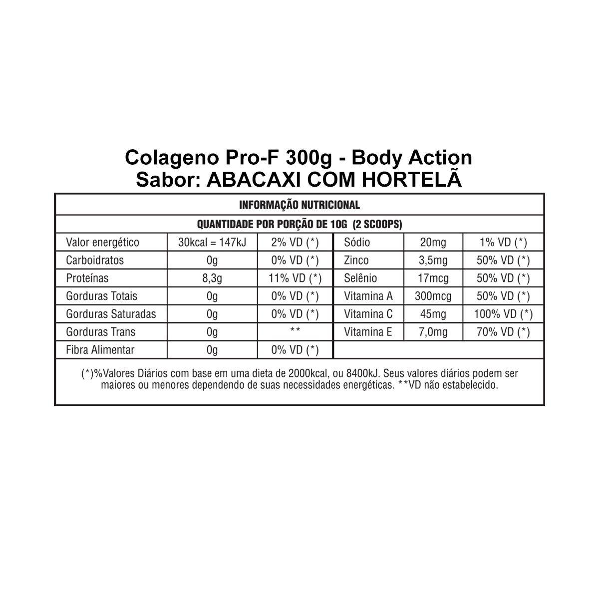 Colágeno Pro-F 300g - Body Action